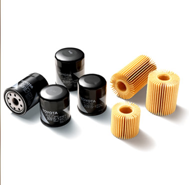 An array of Toyota genuine oil filters.